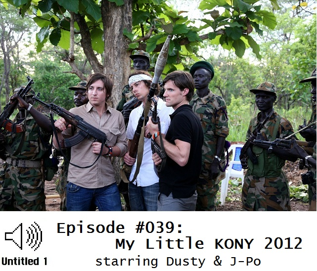 The makers of KONY 2012 posing with Sudanese soldiers and some big guns.  Aren't they TOUGH?